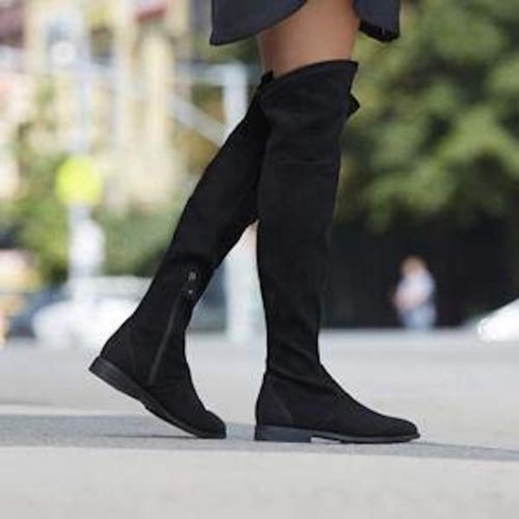 2914e69993e Gentle Souls Emma over the knee black suede boots